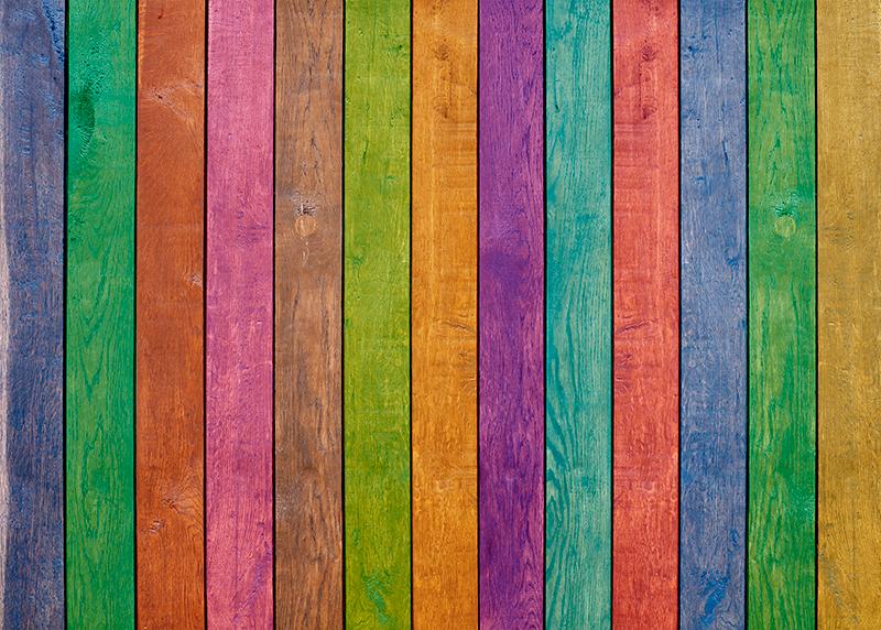 TenStickers. Tappeto in vinile legno Motivo multicolore in legno. Un colorato tappeto in vinile con motivi in legno con colori diversi per tutti gli amanti del legno. è molto facile da pulire e mantenere. Consegna in tutto il mondo!