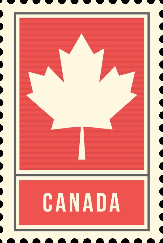 TenStickers. 加拿大枫叶乙烯地毯. 这款乡村风格的红色乙烯地毯具有经典的加拿大枫叶和其下方的文字canada。选择您的尺寸。
