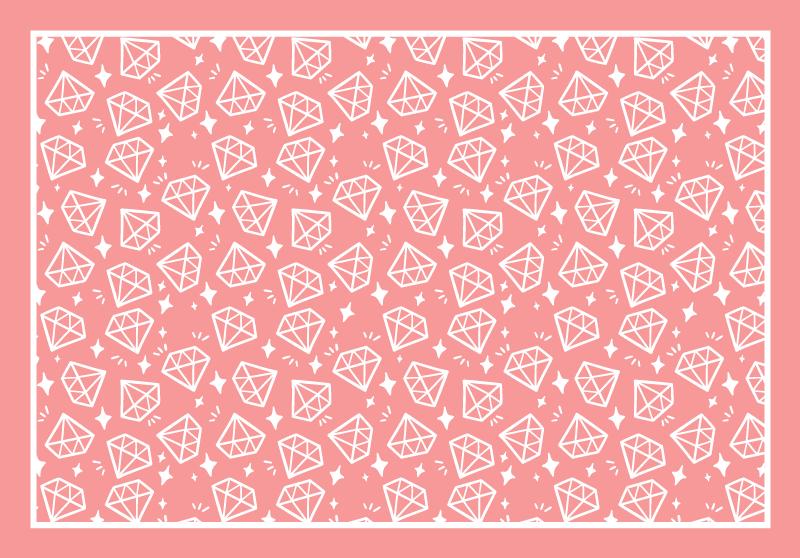 TenStickers. Diamantes geométricos tons de rosa tapetes geométricos. Tapete de vinil rosa com diamantes. Decoração perfeita para seu quarto e salão. Feitos de materiais de alta qualidade, fáceis de armazenar e limpar.