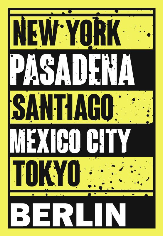 TenStickers. Nume de orașe covoare de vinil personalizate. Acest covor text din vinil conține numele diferitelor orașe celebre, inclusiv new york, santiago, mexico city și tokyo.