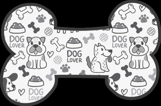 Tenstickers. Vinylteppetegninger av hunder og matdyrematte. Vinylteppe med hunder, perfekt hvis du vil lyse opp sengen din. Enkel å rengjøre og oppbevare. Laget av vinyl av høy kvalitet.