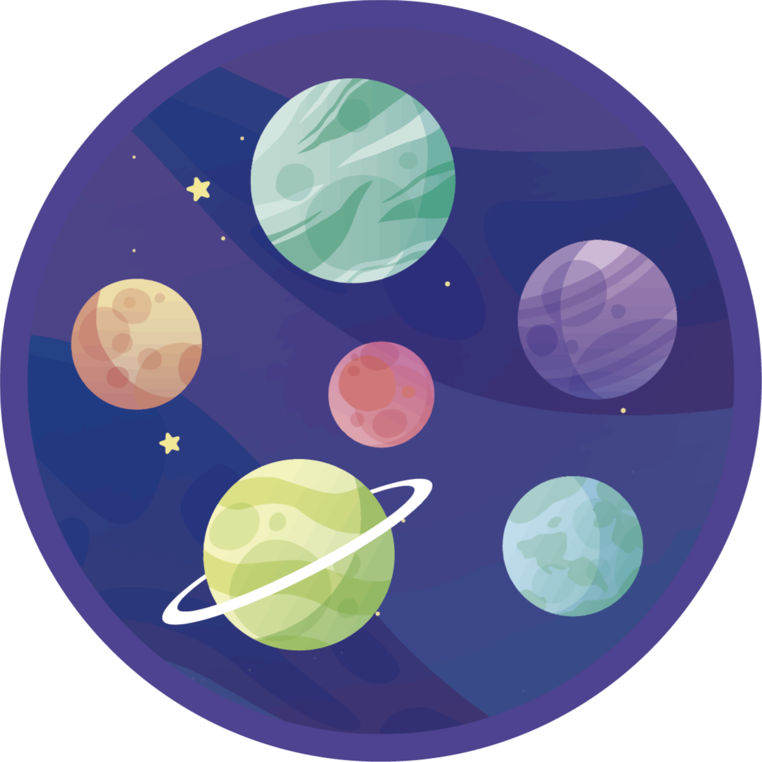 TenStickers. Vinyl carpet different planets galaxy kids vinyl carpet. A planets pattern purple and round vinyl rug to make your child feel and play as astronaut. It can delivered to your house.
