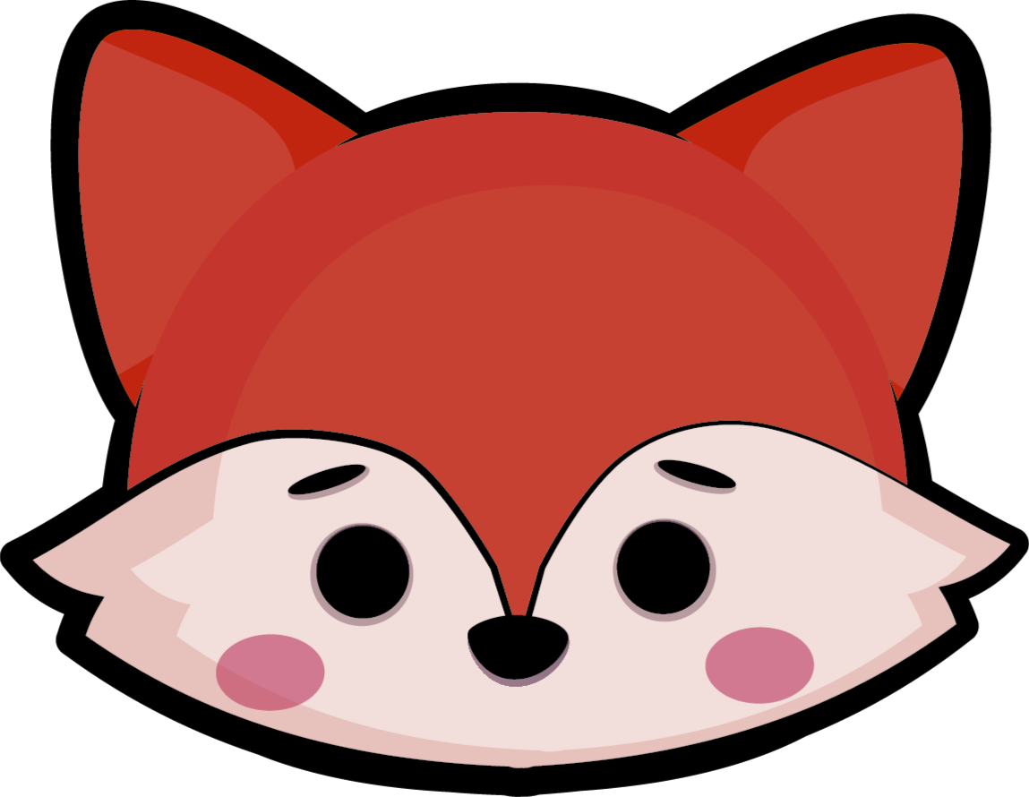 TenStickers. Vinyl rug fox head children's animal mat. A perfect and cute fox face vinyl rug to make your kid be happy every time. It is very resistant and we have a variety of sizes.