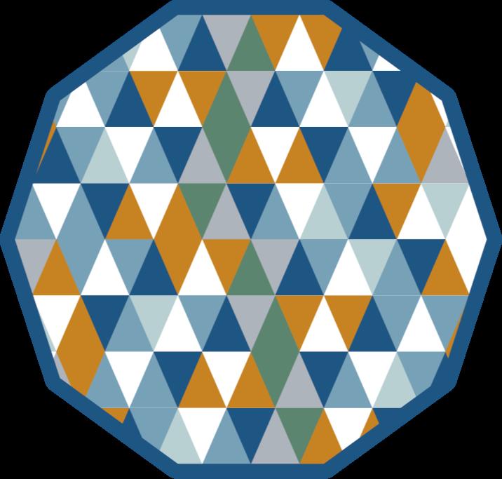 TenStickers. Tapete pvc triângulos multicoloridos tapetes geométricos. Decore sua casa com um incrível tapete de vinil de forma geométrica para qualquer espaço de sua casa. Produto de alta qualidade entregue na frente de sua casa.