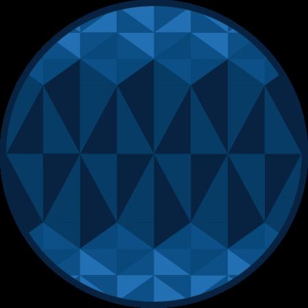 TenStickers. Covoare geometrice triunghi albastru. Acest covor geometric din vinil prezintă diferite triunghiuri în diferite nuanțe de albastru, toate potrivite într-un model unic.