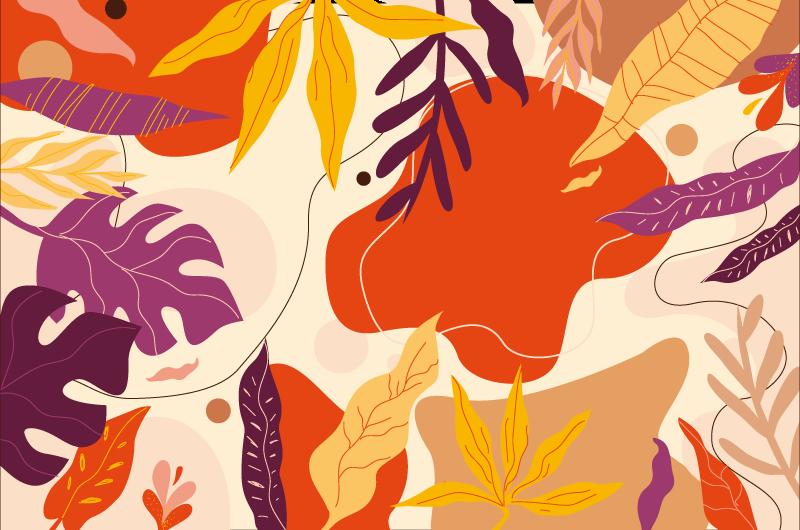 TenStickers. πολύχρωμα φύλλα χαλί βινυλίου χαλί. υπέροχο και κομψό εφέ σούπερ φύλλα χαλί βινυλίου χαλί είναι μια τέλεια λύση για την κουζίνα γιατί είναι τόσο πρακτικό.