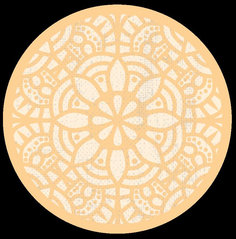 TenStickers. Tappeto in pvc nordico Tappeto beige cerchio in vinile. Questo tappeto rotondo in vinile giallo è una soluzione perfetta per la cucina perché è così pratico. è antiscivolo, può essere realizzato secondo i tuoi desideri.