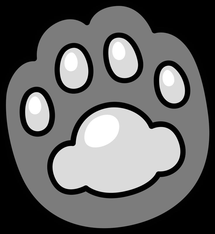 TenStickers. Tapis noir et blanc à sticker animalier. Produit de qualité supérieure et très durable adapté à toutes les surfaces que vous souhaitez, vous pouvez le placer n'importe où dans votre maison. Livraison à domicile!