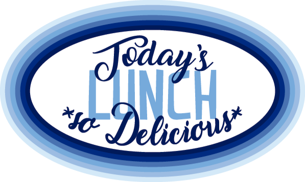 TenStickers. Today's lunch is delicious vinyl rug. This text vinyl rug features the words 'today's lunch', 'so delicious' on it. Extremely long-lasting material. High quality.