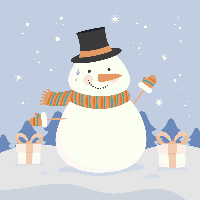 Tenstickers. Snö man jul matta. En underbar snögubbe-vinylmatta för att sätta ett stort leende på ditt barn genom att dekorera detta rum med denna underbara söta vinylmatta.