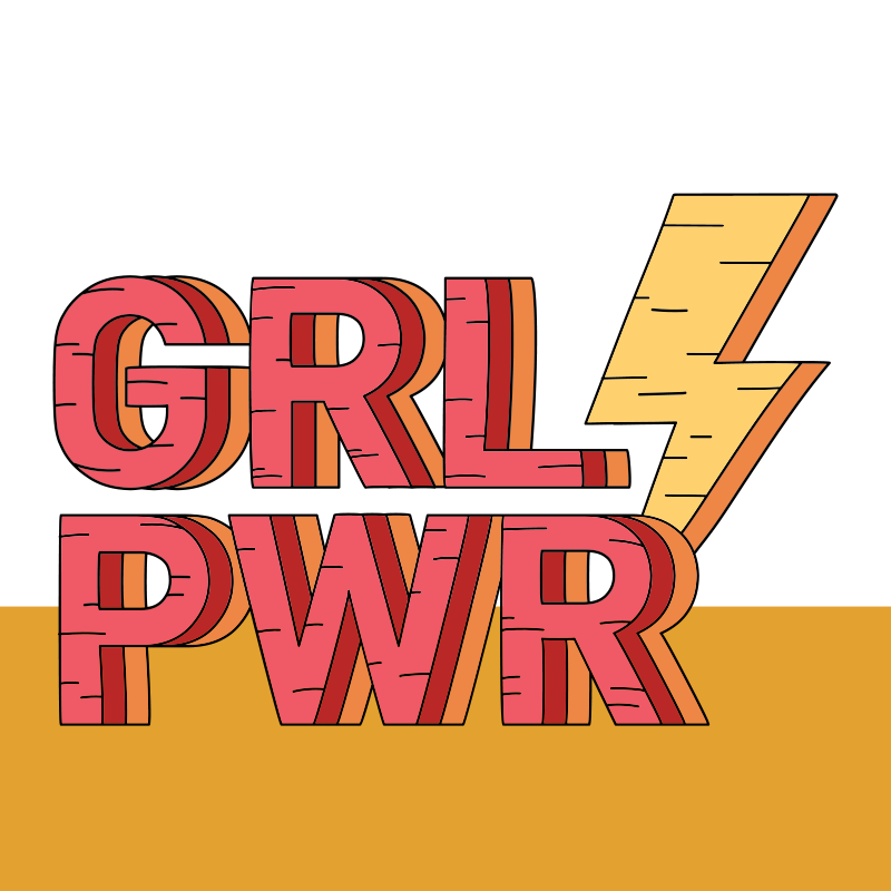 TenStickers. girl pwr bespoke rugs. Vinyl carpet with text girl power in super colors.  Add the right size, put this item in your shopping cart and you wil love it.