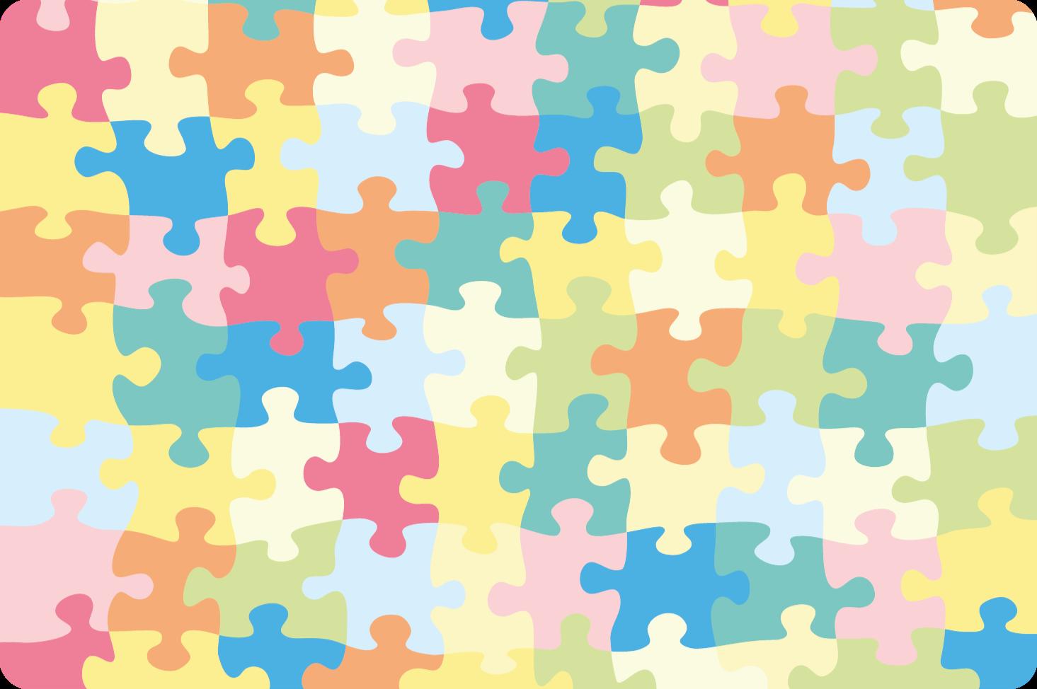 TenStickers. Vinyl vloerbedekking Meer Kinderen Kleurrijke puzzelstukjes. U zou het ermee eens zijn dat dit schattige vinyl tapijt met puzzel patroon geschikt zou zijn voor de kamer van u kind. Het is origineel en aanpasbaar aan elk formaat.