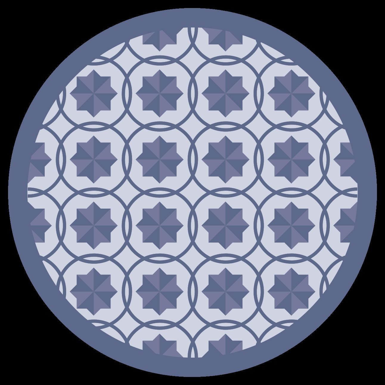 TenStickers. Dywan nowoczesny w okrągłe płytki. Ten wspaniały dywan do salonu to zdecydowane rozwiązanie, które w niesamowity sposób poprawi estetykę całego domu.