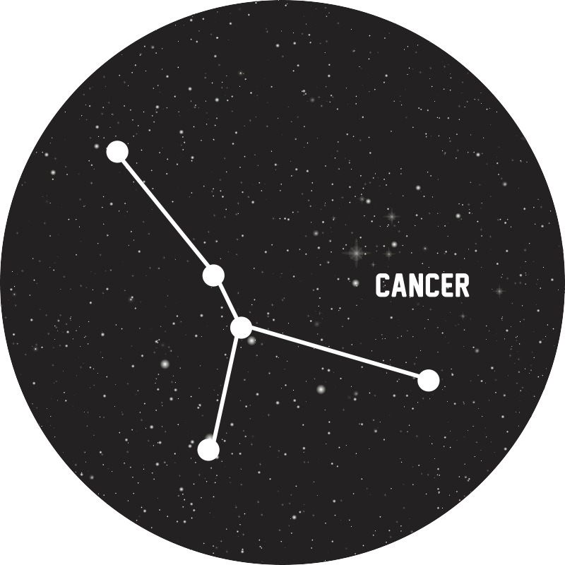 TenStickers. Zodiac sign Cancer  contemporary rugs. Beautiful elegant zodiac sign Cancer vinyl carpet perfect to put in a salon in your house. If you are looking for a cute decoration for your home.