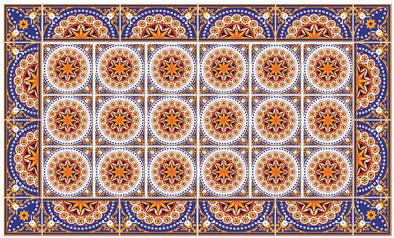 TenStickers. Covor de vinil forme de bucatarie mat de tigla multicolor. Tapis de sol decorativ în sticker à faible coût pour votre espace. Nos produits sont fabriqués avec des materials de la meilleure qualité