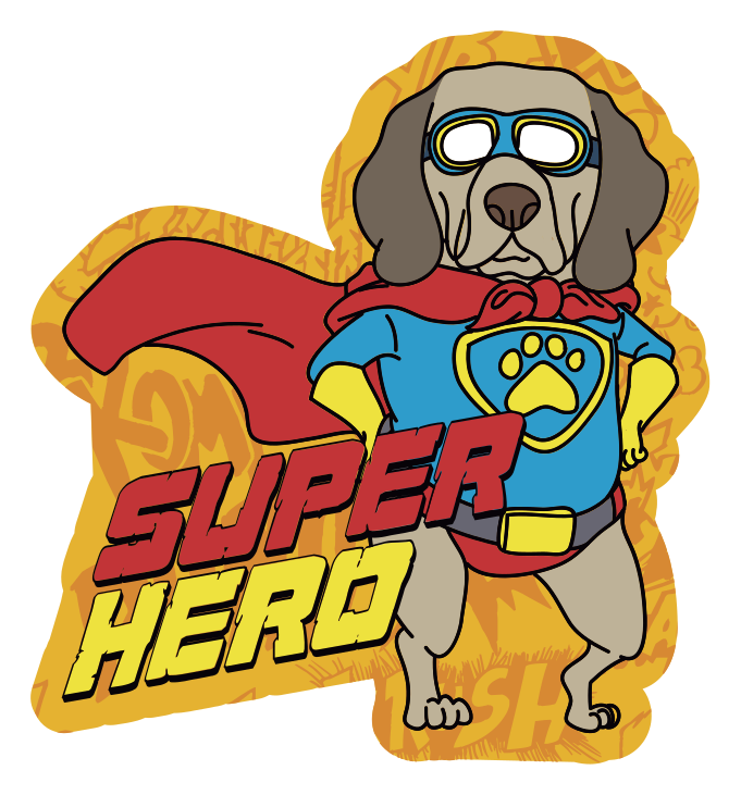 TenStickers. σκύλος με γυαλιά χαλάκι ζώων. φανταστικό σούπερ σκύλο από χαλί βινυλίου με σχέδια γυαλιού, το οποίο μπορεί να τοποθετηθεί φθηνά σε αυτοκόλλητα για το σαλόνι σας