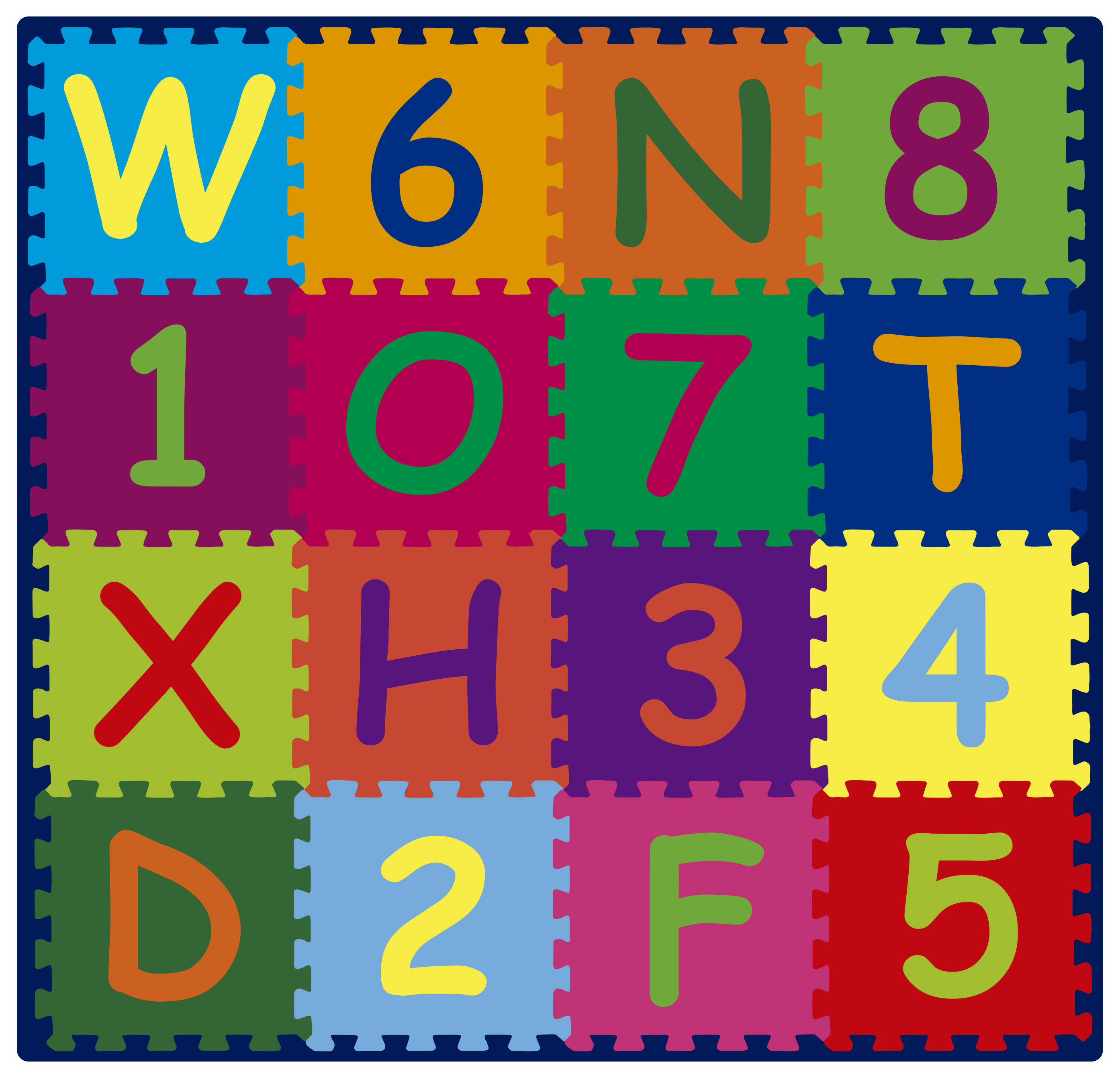 TenStickers. Alphabeth and numbers alphabet rug. Fantastic Vinyl rug super alphabeth and numbers patterns, which can be mounted inexpensively in stickers for your living room.