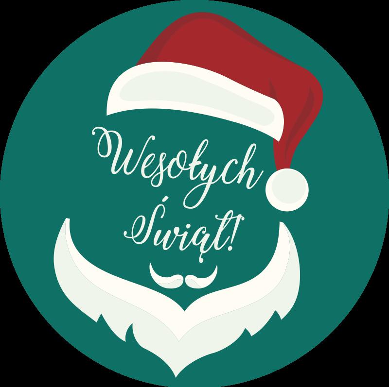 TenStickers. Dywan winylowy Wesołych świąt . Zielony dywanik winylowy wesołych Świąt, idealny do dekoracji sypialni. Łatwe do czyszczenia i przechowywania. Wysokiej jakości materiał. Sprawdź to!