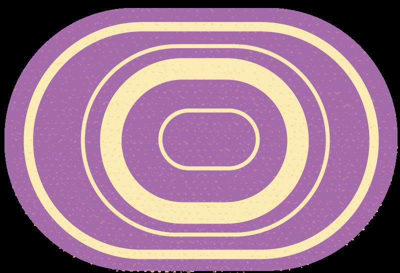 TenStickers. Covor oval minimalist violet. Covor frumos oval mov pentru baie. Un covor pentru a vă înfrumuseța spațiul din baie cu o notă de lux și efect exclusiv.