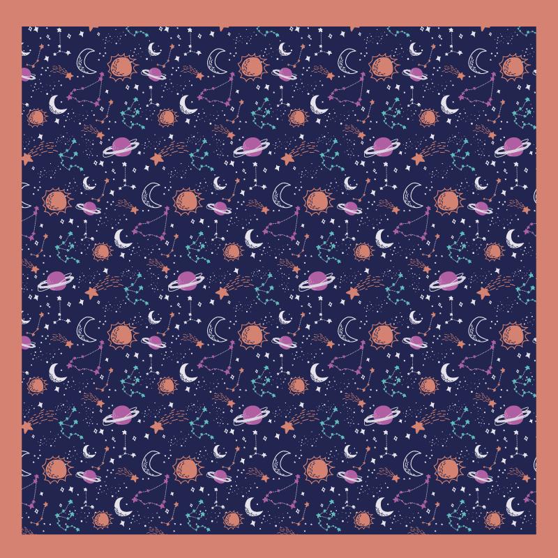 TenStickers. Tappeto in vinile stelle Stelle blu lavate per bambini. Acquista il nostro tappeto in vinile di alta qualità per bambini con un design straordinario che illustra elementi spaziali e pianeti. Personalizzabile in qualsiasi dimensione richiesta.