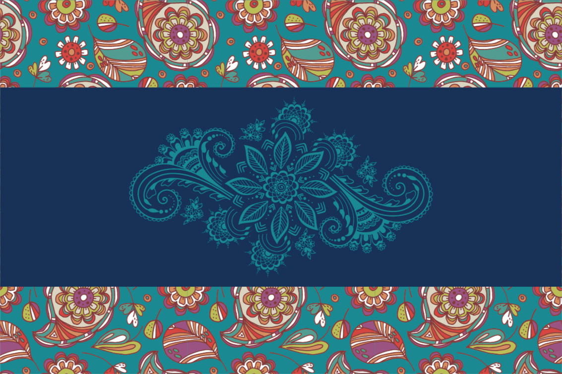 TenStickers. Blue Paisley flower rug. For all those paisley designs lovers we have a blue paisley vinyl rug collection to make your hallway look amazing for years.