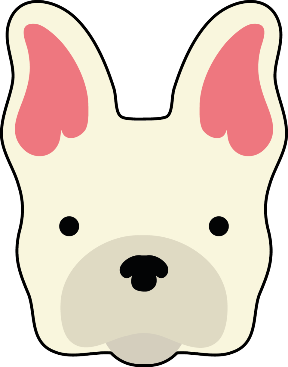 TenStickers. Dywanik winylowy Głowa psa. Uroczy dywan winylowy, który rozbawi każde dziecko. Dywan winylowy w kształcie psa do pokoju dziecięcego. Oryginalne, trwałe i łatwe w utrzymaniu.