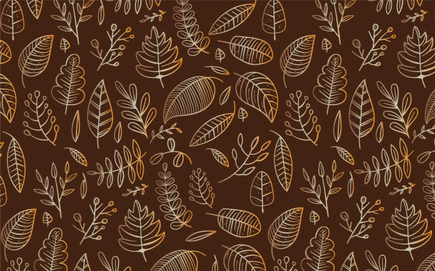 TenStickers. Golden autumn retro rug. Brown vinyl rug with autumn leaves, perfect for decorating your kitchen. Made of high quality vinyl. Easy to clean. Check it out!
