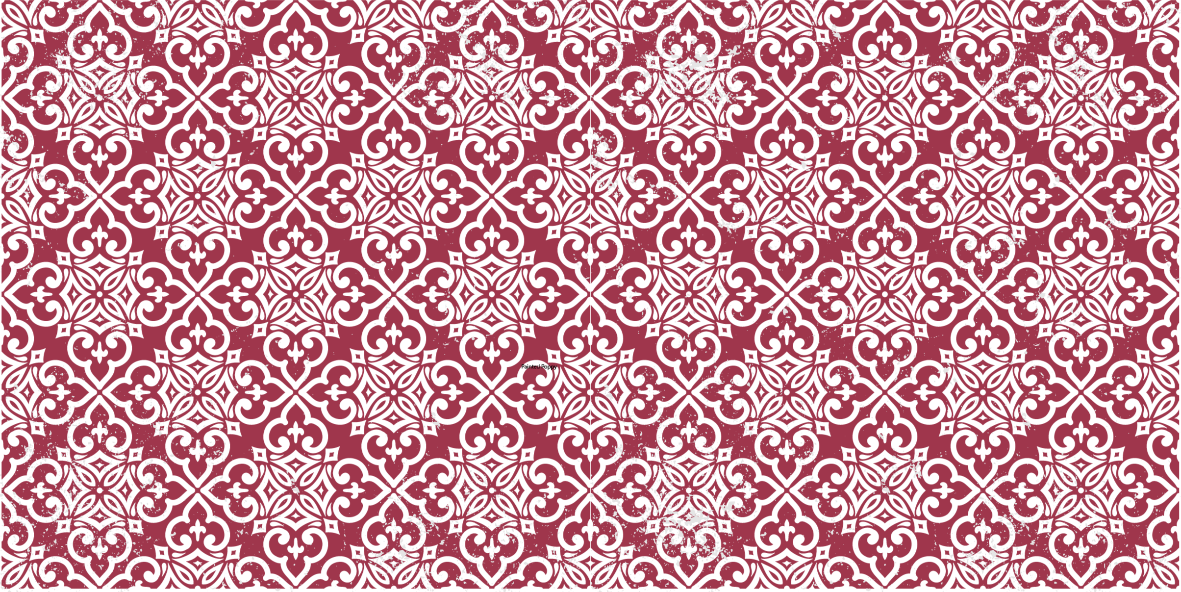 TenStickers. Moroccan Red  retro rug. You can place this red colour Moroccan pattern vinyl carper on any floor space in your home. It is suitable for hallways, kitchen, dinning , etc.
