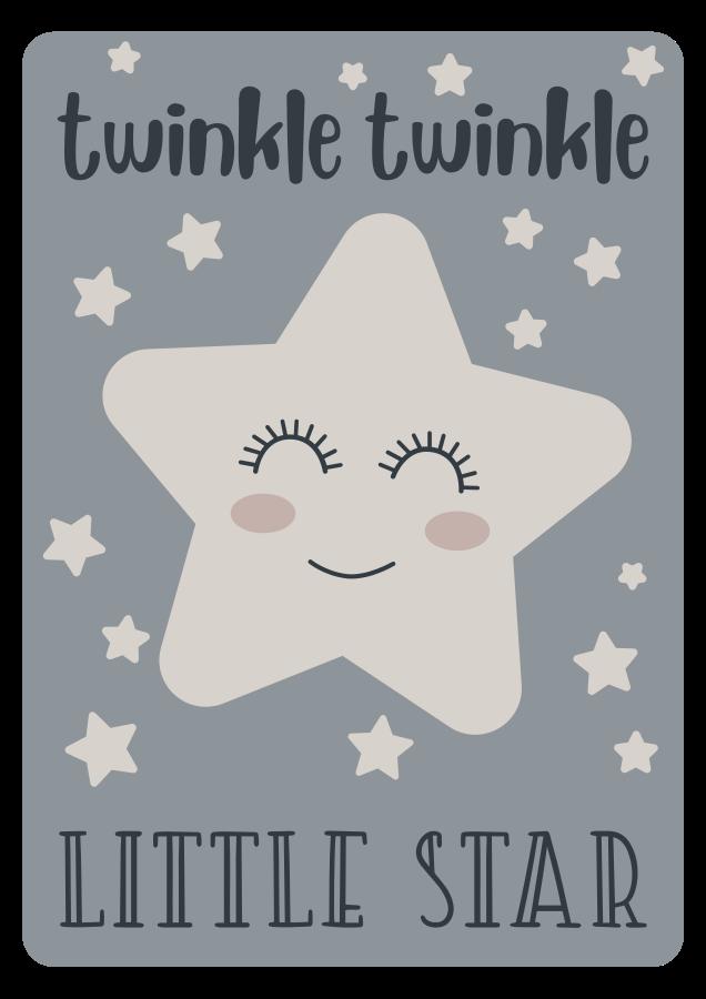 TenVinilo. Alfombra vinilo estrellas twinkle little star song. Alfombra vinílica de estrellas perfecta si quieres decorar el cuarto de tu hija. Diseño de cuento en color gris con estrella feliz ¡Compra online ahora!