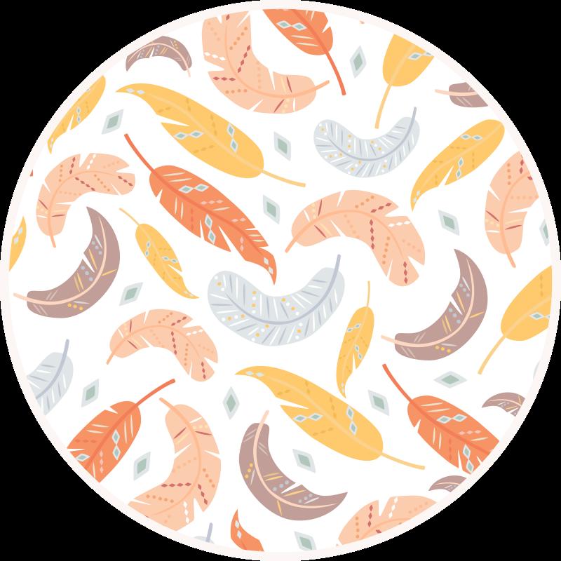 TenVinilo. Alfombra vinilo nórdica plumas tonos pastel. Alfombra vinílica habitación de plumas en tonos pastel perfecta para decorar tu casa como a ti te gusta. Elige medidas ¡Compra online!