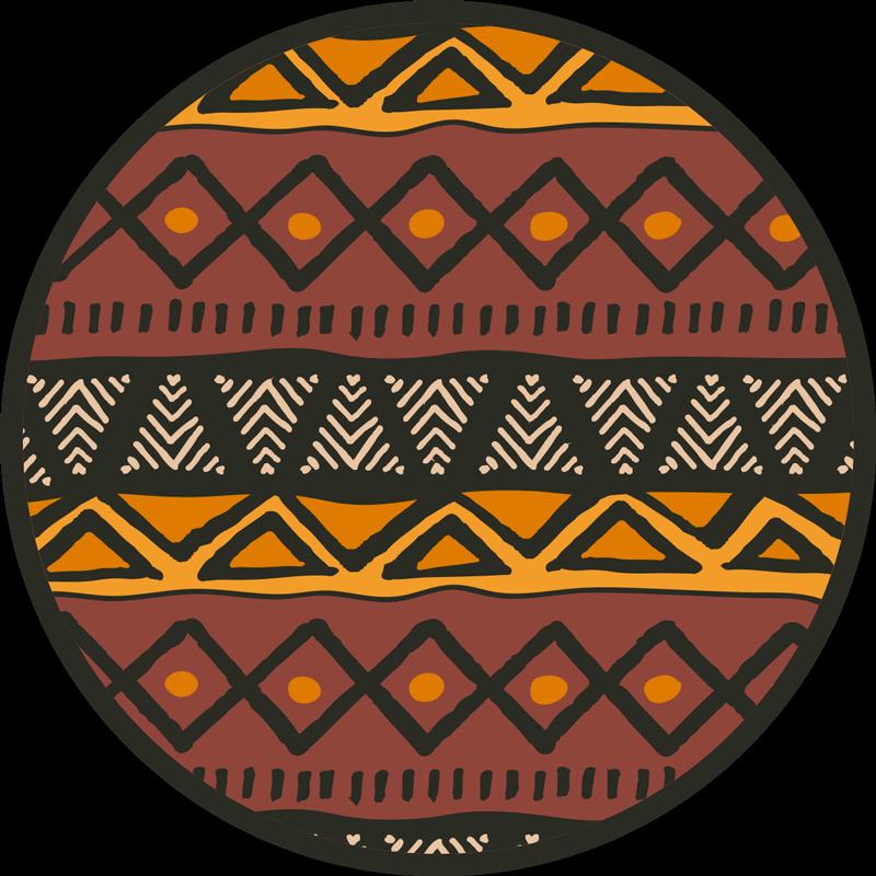 TenStickers. Dywan winylowy Etniczne wzory Afryki. Dywan winylowy w afrykański wzór. Spójrz na ten piękny projekt z dziełem sztuki afrykańskiego oryginału.