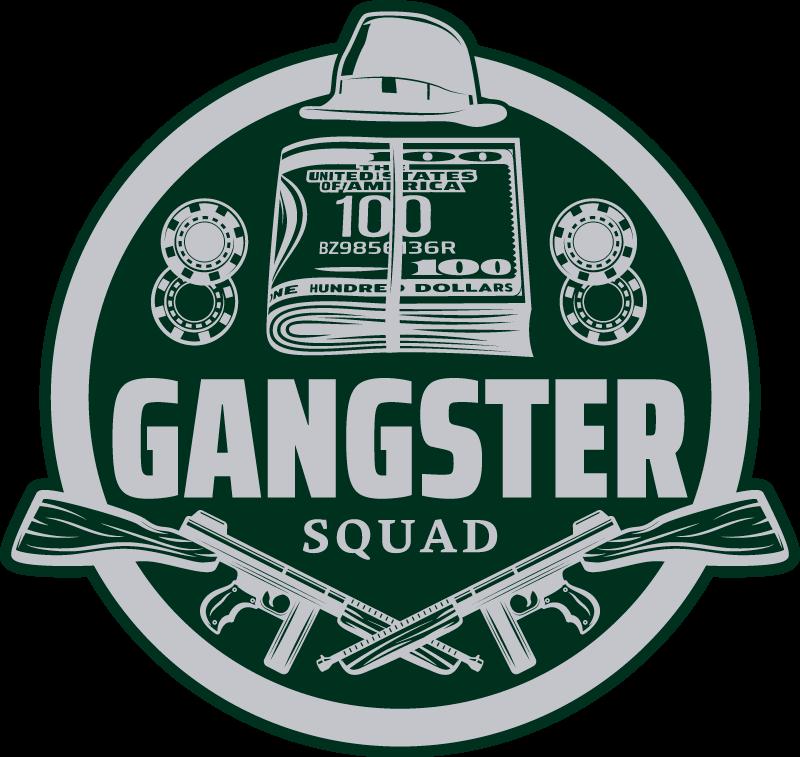 TenVinilo. Alfombra vinilo vintage escuadrón de gángsters. Alfombra vinílica habitación juvenil original con diseño para amantes y fanáticos de las vibraciones cowboy. Elige medidas ¡Envío exprés!