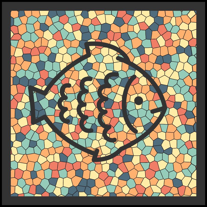 """""""Tenstickers"""". Mozaikos žuvų mozaikos vinilo grindys. Mūsų nuostabūs viniliniai kilimai gaminami pagal jūsų užsakymą. Gražus įvairiaspalvis mozaikos rašto vinilo kilimas, kad išskirtumėte namus išskirtinumu."""