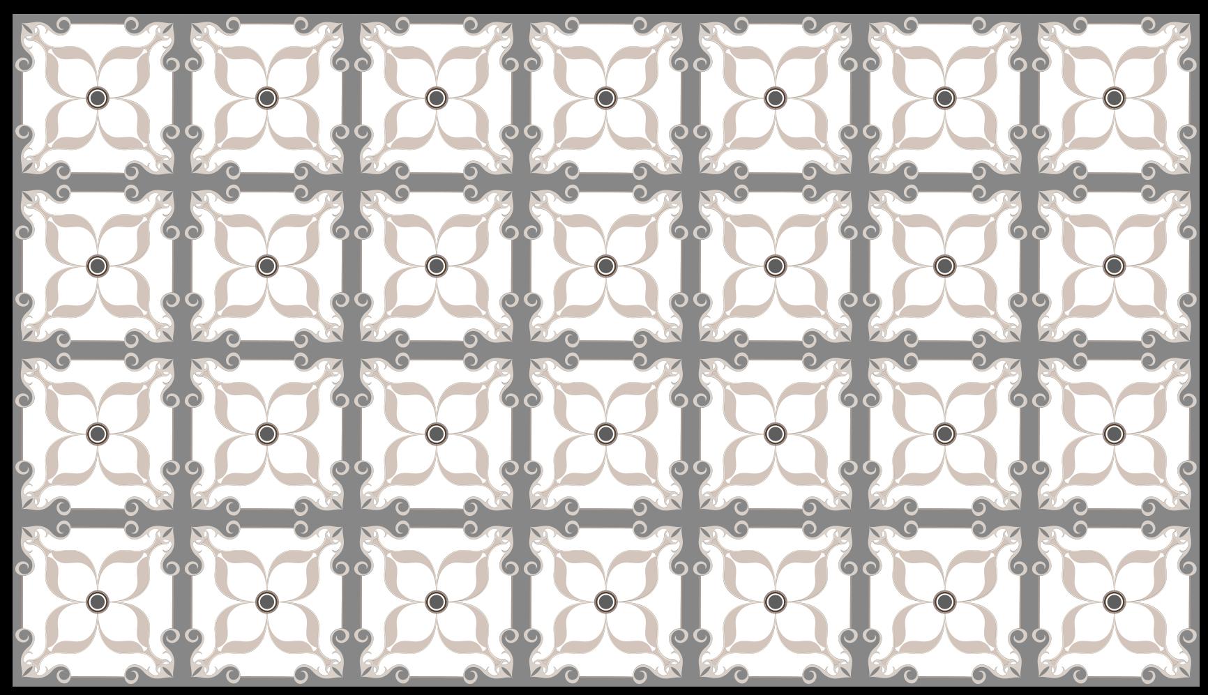 TenStickers. Dywan winylowy Białe płytki. Doskonały, nowoczesny dywan do dekoracji Twojego domu, z szaro-białymi kafelkami, który idealnie wkomponuje się w klimat twojego domu