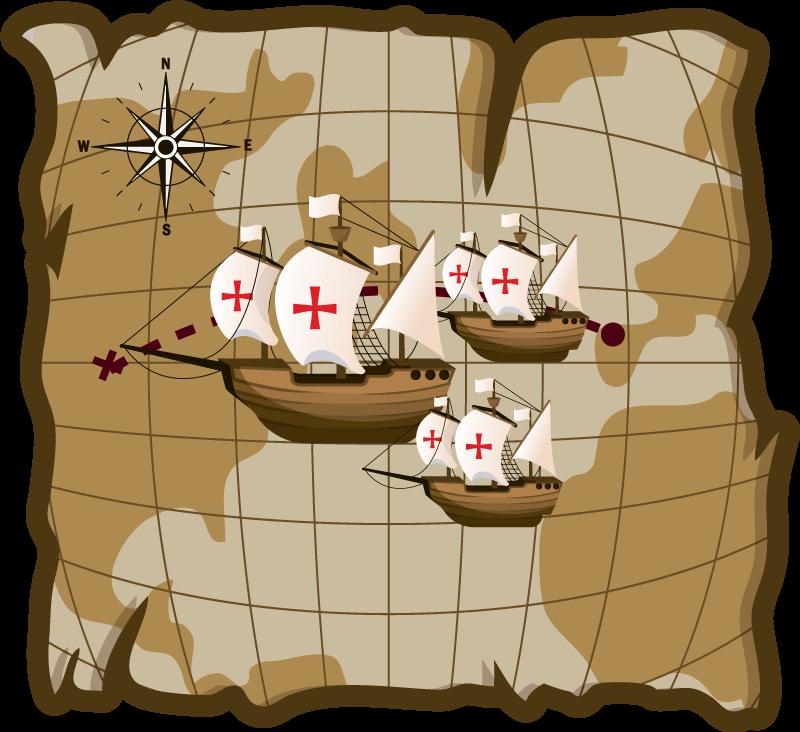 TenVinilo. Alfombra vinílica mapamundi nave exploradora. Alfombra vinílica mapamundi que presenta una imagen de cerca del mapa del mundo con 3 barcos navegando a través ¡Compra online!