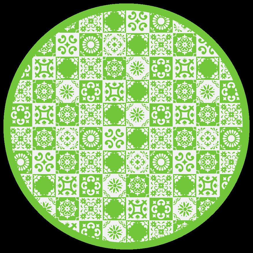 TenStickers. Dywan winylowy Abstrakcyjne zielone i białe płytki. Abstrakcyjny dywan winylowy w kolorze zielonym i białym do dekoracji dowolnej przestrzeni. Wysokiej jakości i bardzo wytrzymały produkt dostarczony do Twojego domu.