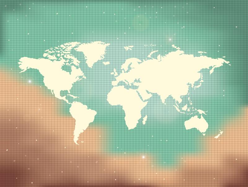 TenStickers. πολύχρωμο χαλί πολιτικό χάρτη βινυλίου χάρτη. χαλί βινυλίου με παγκόσμιο χάρτη σε φόντο τιρκουάζ. εύκολο να καθαριστεί και να αποθηκευτεί εάν είναι απαραίτητο. προσθέστε το κατάλληλο μέγεθος. δείτε το μόνοι σας!