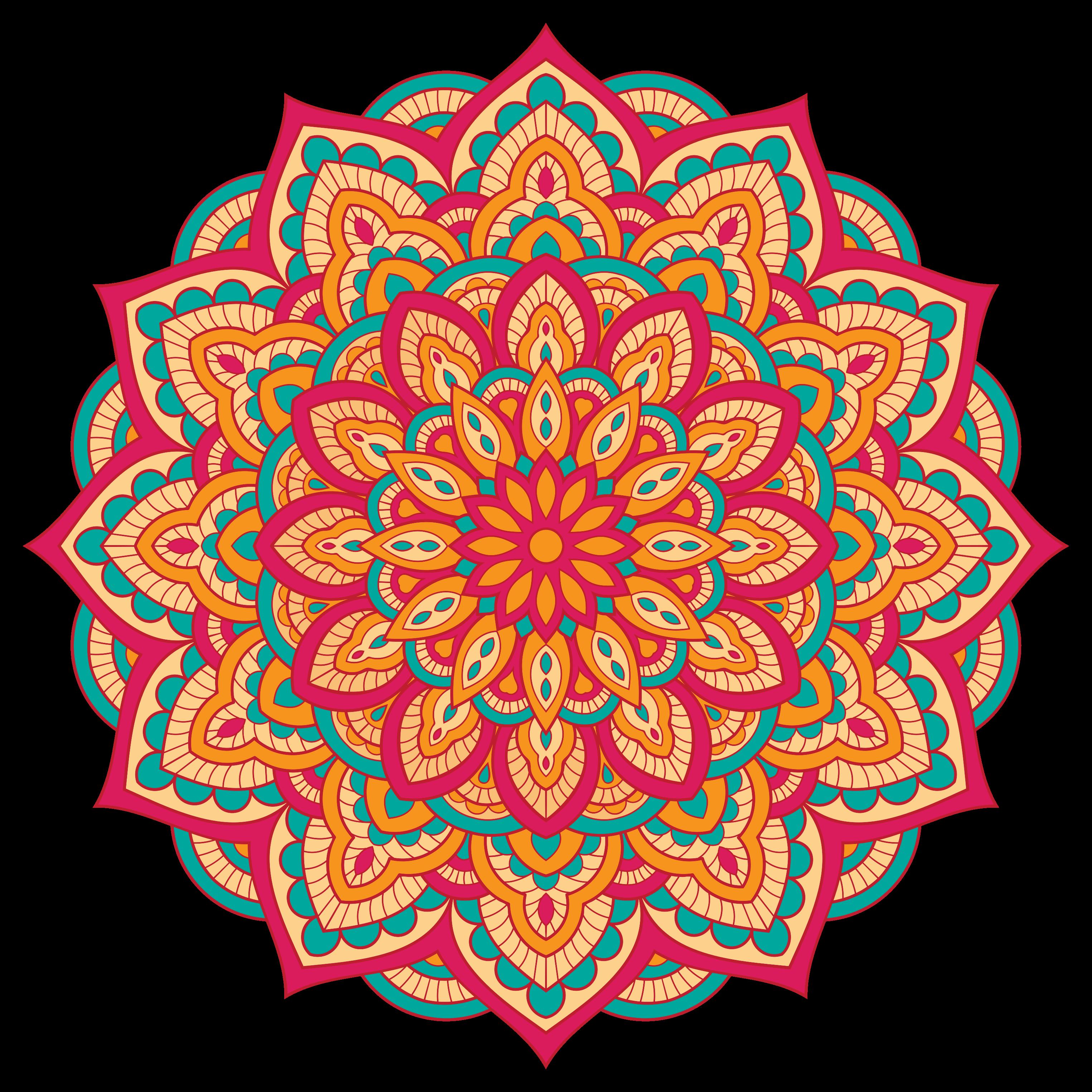 TenStickers. πολύχρωμο χαλί μάνταλα. ένα πολύχρωμο σχέδιο με μάνταλα σε πολλά χρώματα που θα γεμίσουν το σπίτι σας, το σαλόνι σας, το υπνοδωμάτιο ή την τραπεζαρία σας με μεγάλη χαρά.