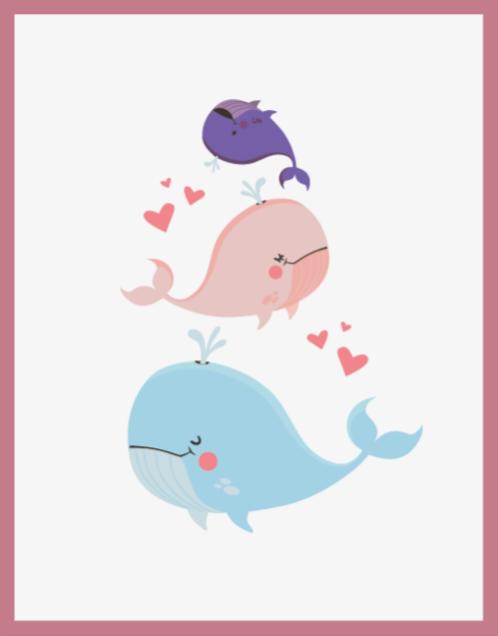 TenStickers. Dywan winylowy Wieloryby bawiące się. Udekoruj dziś sypialnię swojego dziecka tym uroczym dywanikiem z wieloryba z kreskówek i spraw, by były szczęśliwe! Jeśli zamówisz go dzisiaj, otrzymasz go w kilka dni!