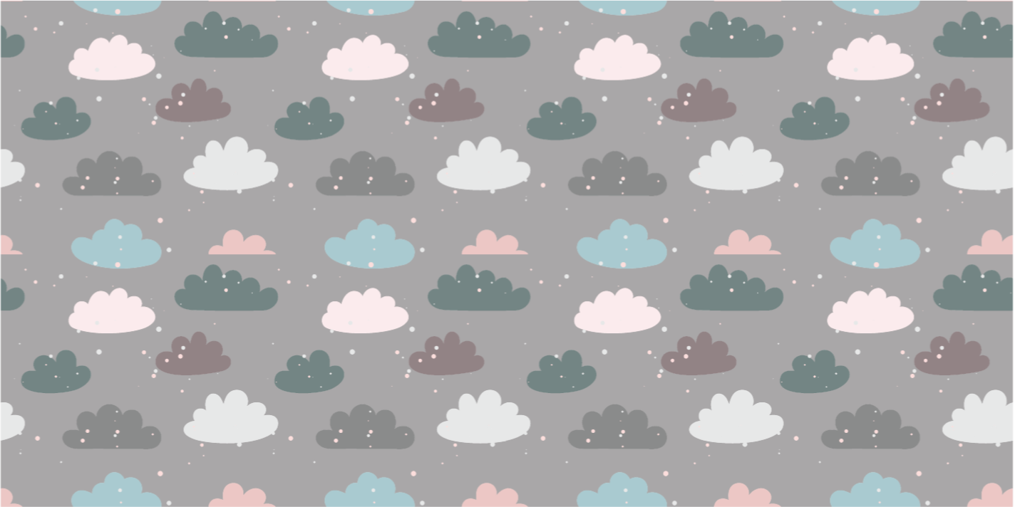 TenStickers. Patterned clouds kids vinyl carpet. Gray vinyl rug with clouds pattern, great as a decoration for your bedroom. Easy to clean and store. Made of high quality vinyl.