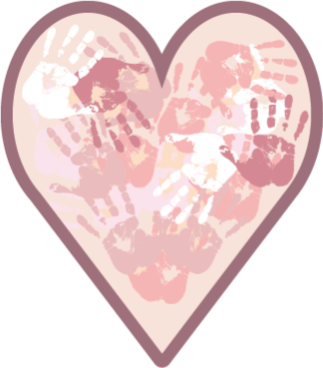 TenVinilo. Alfombra vinílica infantil corazón con manos. Alfombra vinilo rosa corazón perfecta para la habitación de tus hijos. Fácil de limpiar y almacenar ¡Descuentos disponibles!