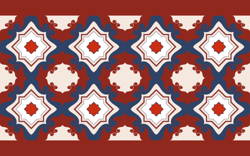 TenVinilo. Alfombra vinílica azulejos rojos vintage. Alfombra vinílica hidráulica mosaico de azulejos rojos vintage para decorar el suelo de tu hogar con un estilo vintage ¡Compra online!