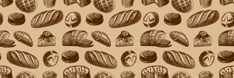 TenVinilo. Alfombra vinílica cocina patrón panes. Alfombra vinílica cocina con panes perfecta para decorar tu cocina. Fácil de limpiar y almacenar ¡Descuentos disponibles!