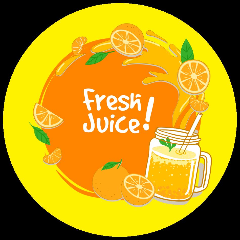 TenStickers. Fresh juice vinyl tapijt. De perfecte manier om uw keuken mooi en met een prachtige decoratie te houden, is met dit vinyl vloerkleed met vers sap en sinaasappels.