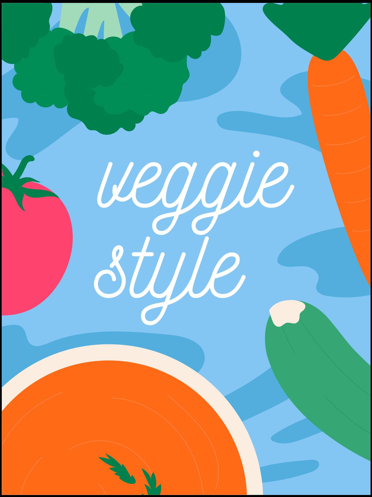 TenStickers. Piso de cozinha estilo vegetariano. A melhor maneira de fazer com que todos saibam que você é vegetariano é com este tapete de vinil de estilo vegetariano para cozinha. Produto de alta qualidade.