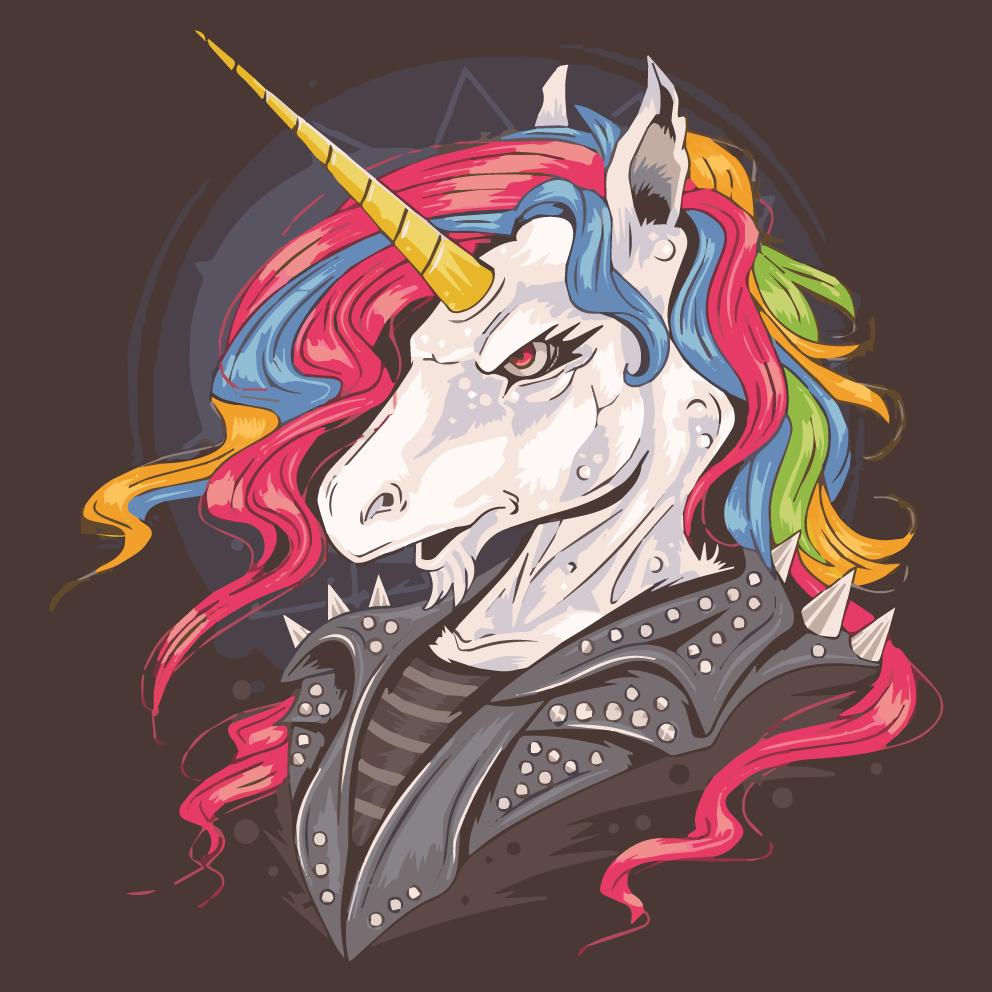 TenVinilo. Alfombra vinilo infantil unicornio rockero. ¿Quiere agregar una alfombra vinilo infantil de unicornio de rock a su hogar, pero no sabe por dónde empezar a buscar? ¡Este es su producto!