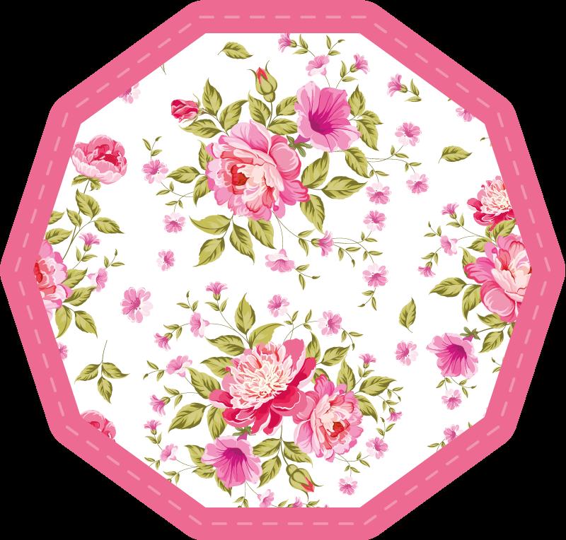 TenVinilo. Alfombra vinilo flores rosas de primavera. ¡Dale a tu dormitorio un aspecto más natural con esta bonita alfombra vinilo de flores florecientes! ¡Respira hoy el aire fresco de las flores!