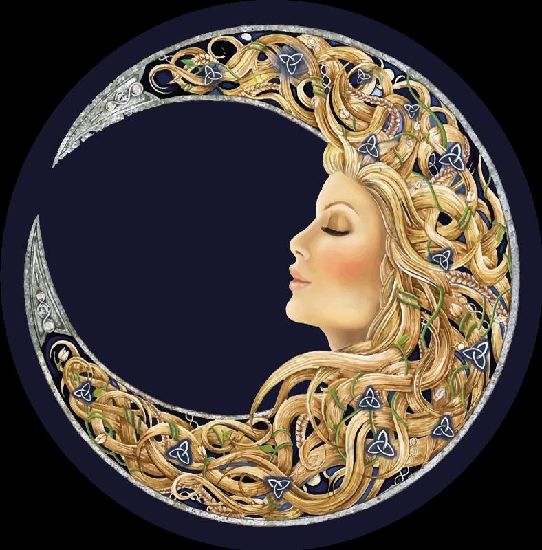 TenVinilo. Alfombra vinílica habitación mujer luna. ¡Dale a tu suelo la singularidad que se merece hoy con esta alfombra vinílica habitación de mujer luna mística! ¡Envío exprés!