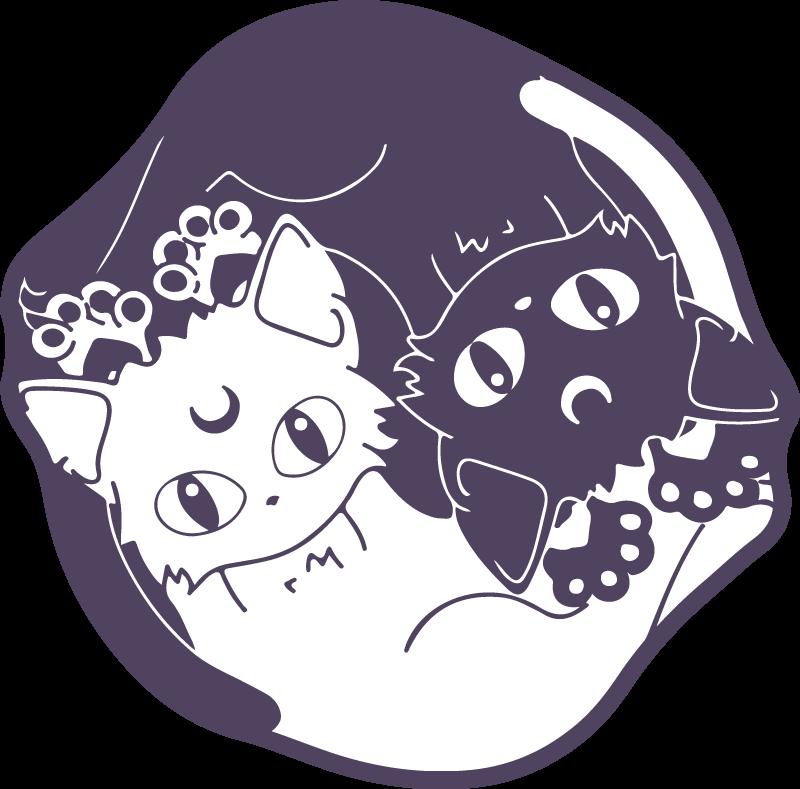 TenVinilo. Alfombra vinilo animales gatos ying y yang. Una maravillosa alfombra vinilo animales de dos gatos en blanco y negro para decorar la habitación de tus hijos o la tuya ¡Compra online!