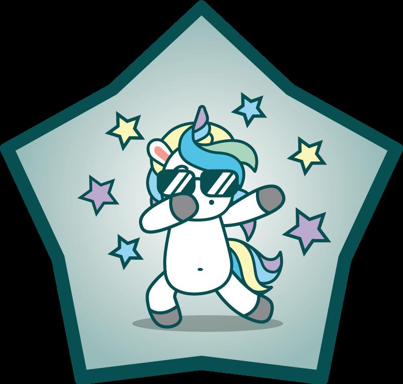 TenStickers. Tappeto in vinile bambini Danza anime unicorno. Tappeto in vinile con un unicorno tamponante, facile da pulire e riporre, ipoallergico e realizzato con materiali di alta qualità. 100% di soddisfazione.
